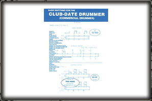 BASIC RHYTHMS FOR THE CLUB DATE DRUMMER (BOOK) / TED REED